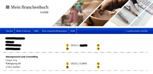 Jörg Haupt Management Consulting in Mein Branchenbuch Krefeld - Screenshot 001a