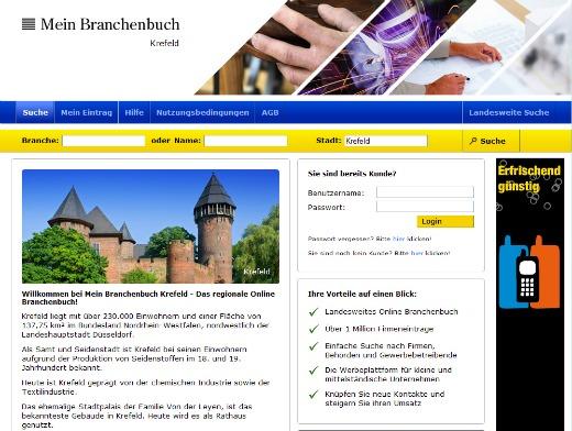 Mein Branchenbuch Krefeld - Screenshot 001a
