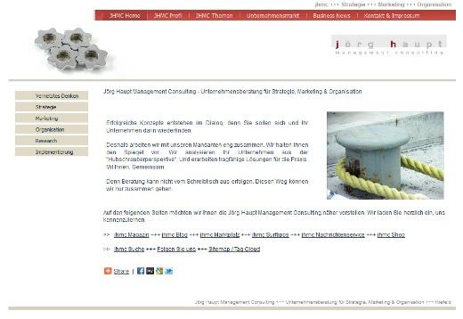 Screenshot Webseite Jörg Haupt Management Consulting 001a