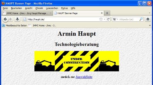 Screenshot haupt-de Webseite 001a