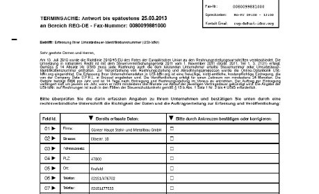 Abzocke Umsatzsteuer-ID 001