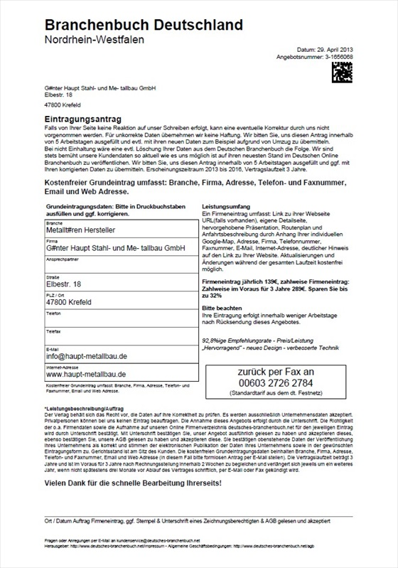 Branchenbuch Deuttschland Nordrhein Westfalen 001a