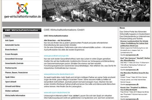 GWE-Wirtschaftsinformation Screenshot 001a