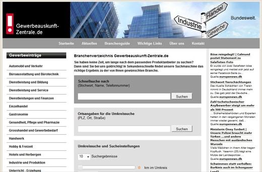 Gewerbeauskunft-Zentrale Screenshot 001a