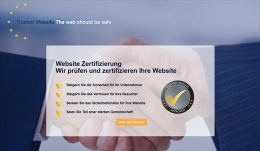 Screenshot webseiten zertifizierung 001a