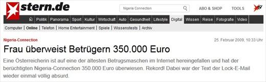 Vorschussbetrug Screenshot Nigeria Connection 001a